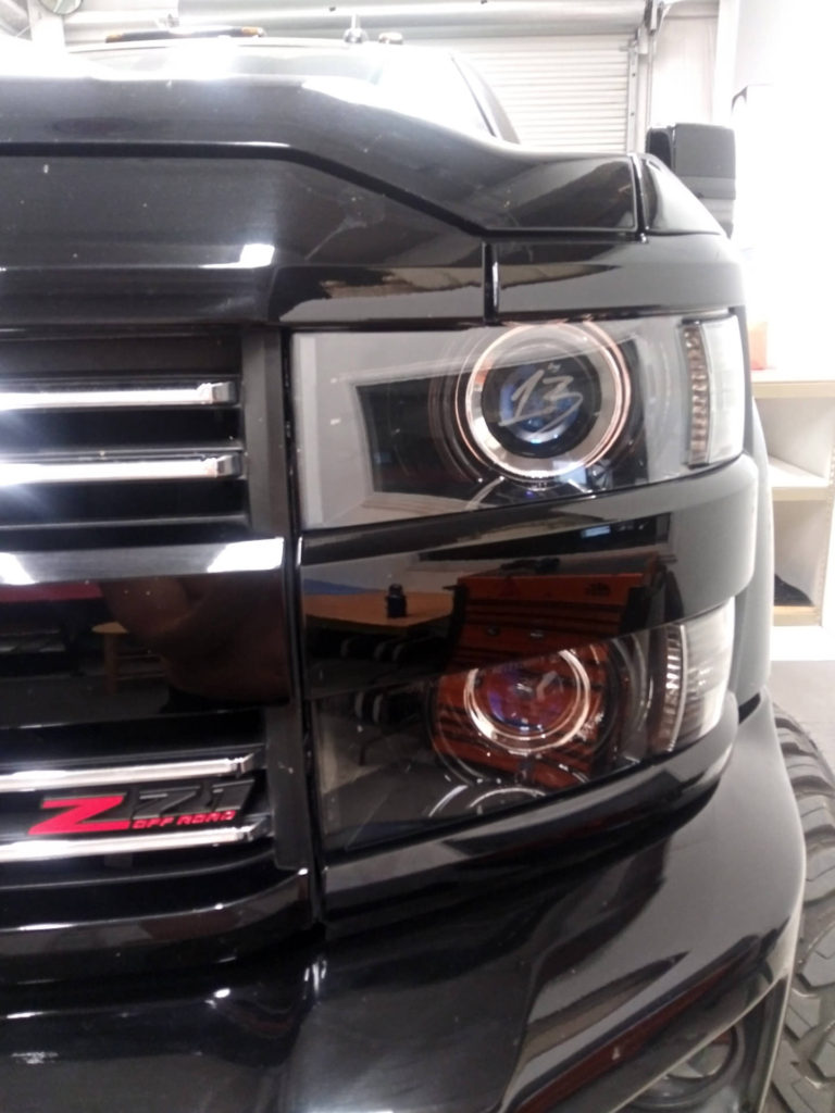 Chevy 2500 hd quad retrofit headlights custom Tampa