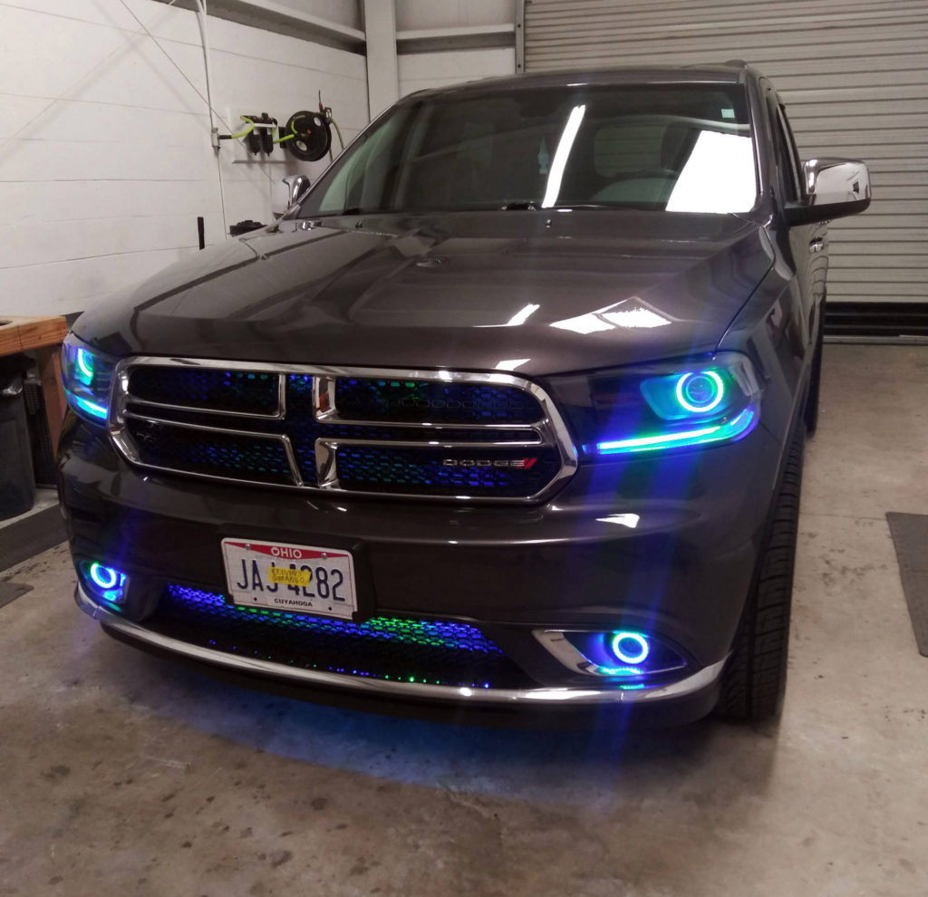 2017 Dodge Durango custom headlights