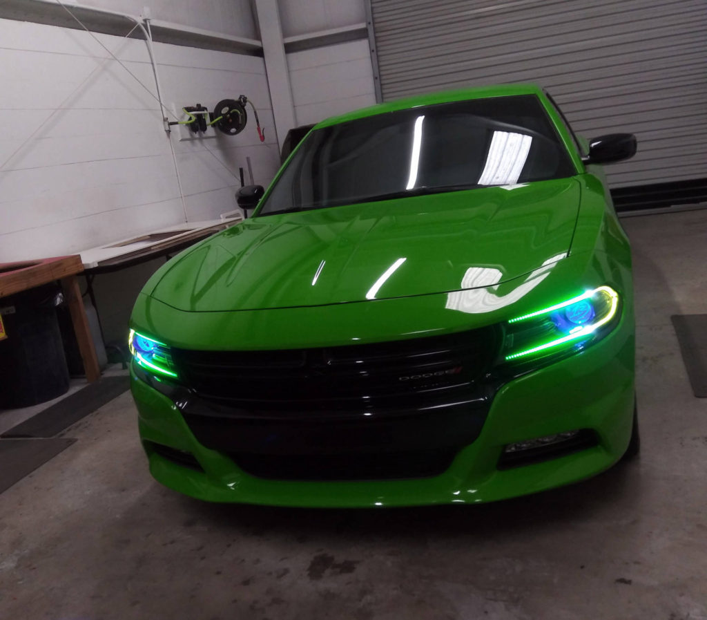 Dodge Charger RT 2017 Tampa custom headlights